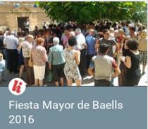 Baells: pregón de la Fiesta Mayor 2016