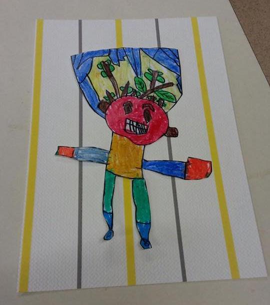 Obra de los alumnos de Infantil.