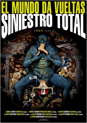 Cartell del tour 'El Mundo Da Vueltas' (2017)