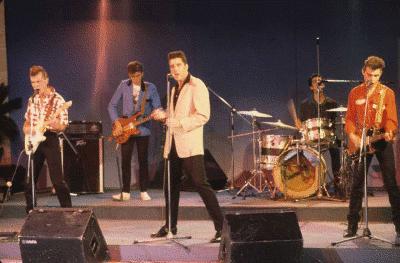 Loquillo y los Trogloditas en directe cap al 1984 / fototeca RTVE