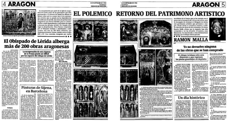 HERALDO DE ARAGÓN del 24 de septiembre de 1995